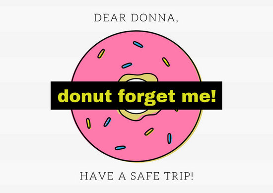 Donut Going Away Card - Templates by Canva - donut template