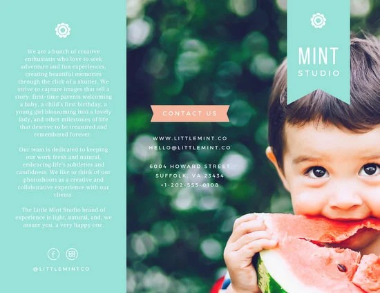 Little Mint Studio Brochure - Templates by Canva - studio brochure