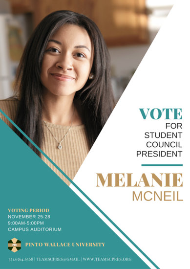 Student Council Election Poster - Templates by Canva
