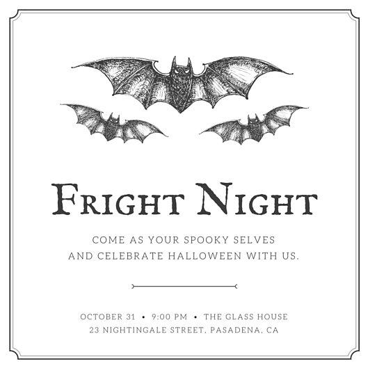 Illustrated Bats Halloween Invitation - Templates by Canva - halloween invitation template