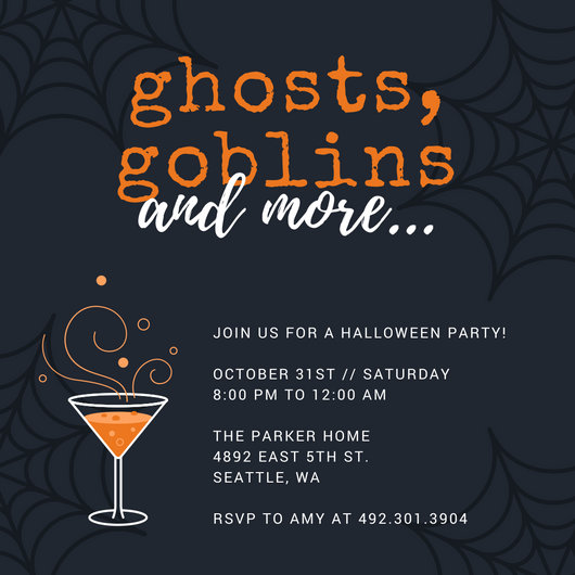 Customize 4,000+ Halloween Party Invitation templates online - Canva - invitation for halloween party