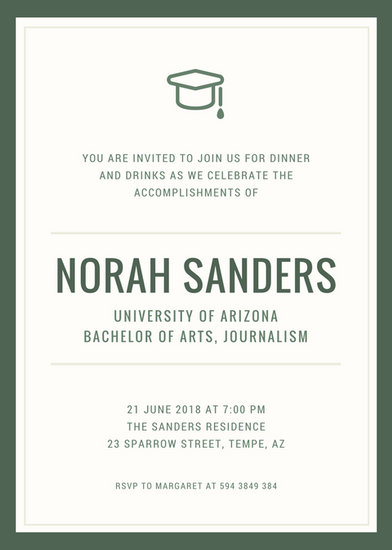 Graduation Invitation Templates - Canva - graduation invitation template