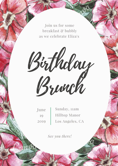 Floral Birthday Brunch Invitation - Templates by Canva - lunch invitation templates