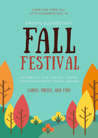 School Fall Festival Flyer - Templates by Canva - fall festival flyer ideas