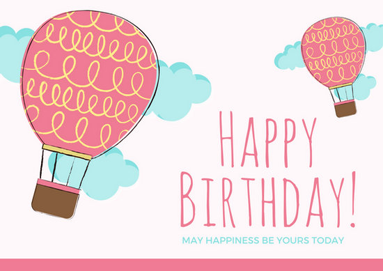 Customize 884+ Birthday Card templates online - Canva - template for a birthday card