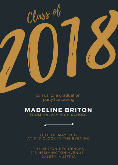 Customize 90+ Graduation Invitation templates online - Canva - graduation program covers