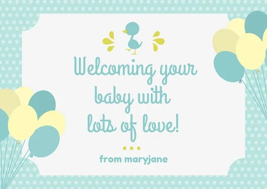 Baby Blue Themed Baby Shower Card - Templates by Canva