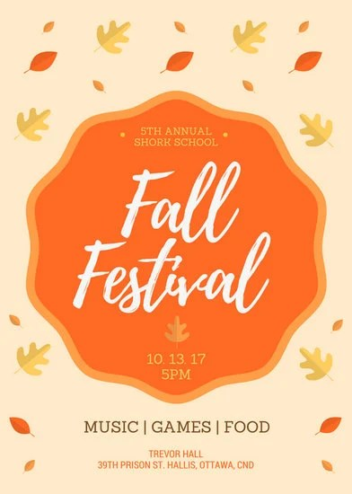 Fall Festival Flyer - Templates by Canva - fall festival flyer ideas