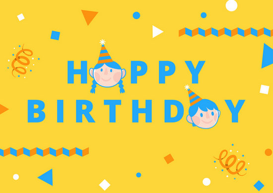 Kids Cute Birthday Card - Templates by Canva