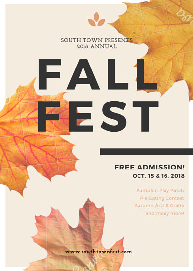 Leafy Fall Festival Flyer - Templates by Canva