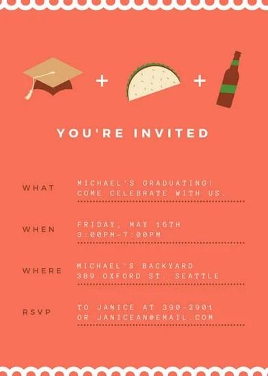 Graduation Invitation Templates - Canva - graduation invitation template