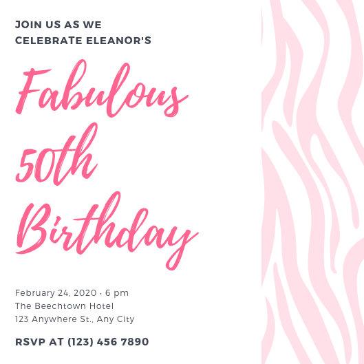 Customize 370+ 50th Birthday Invitation templates online - Canva