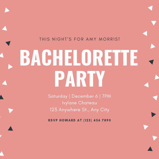 Customize 94+ Bachelorette Party Invitation templates online - Canva
