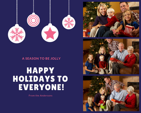 Customize 318+ Holiday Photo Collage templates online - Canva