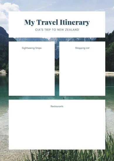 Customize 25+ Itinerary Planner templates online - Canva