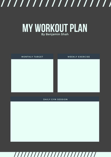 Customize 39+ Workout Planner templates online - Canva