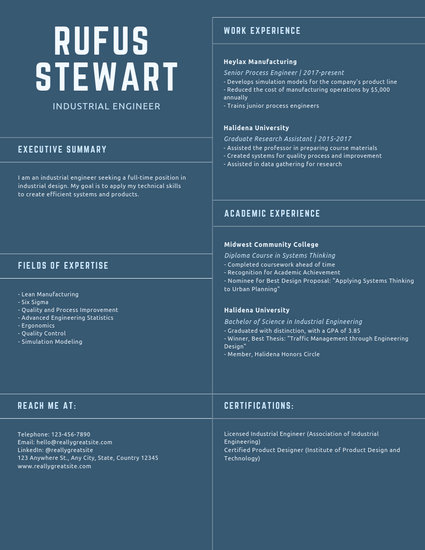 Conventional Industrial Design Engineer Resume - Templates by Canva