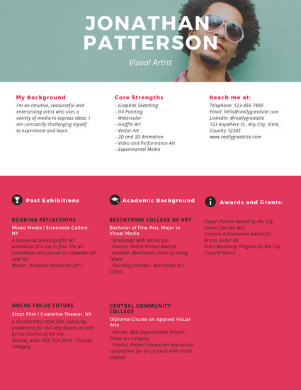 Established Visual Artist Resume - Templates by Canva