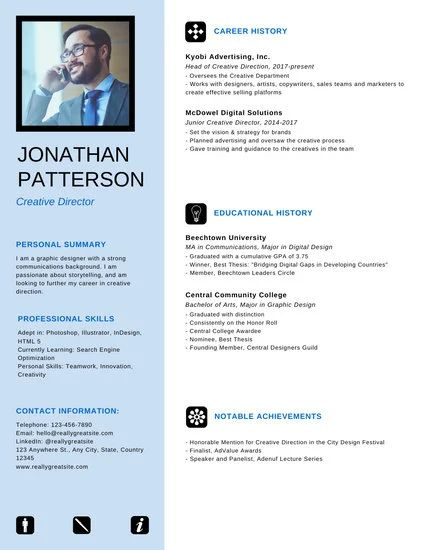 top professional resume