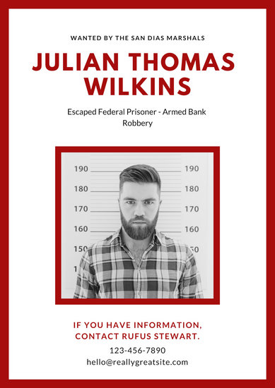 Customize 22+ Wanted Poster templates online - Canva