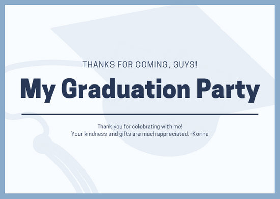 Customize 24+ Graduation Thank You Card templates online - Canva