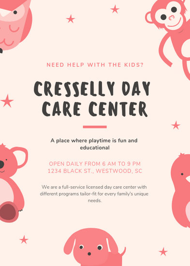 Customize 25+ Daycare Flyer templates online - Canva