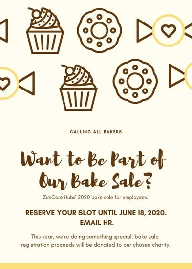 Customize 320+ Bake Sale Flyer templates online - Canva