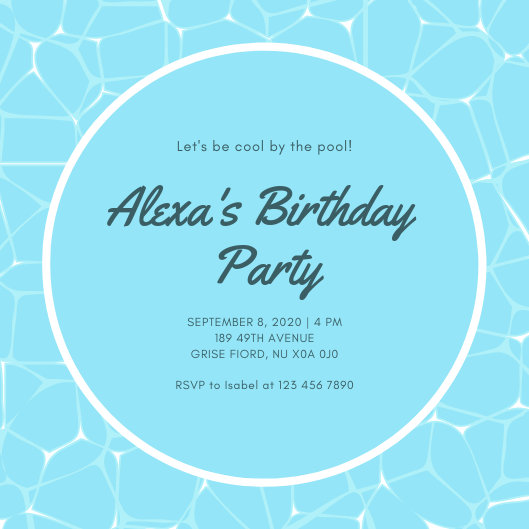 Customize 2,892+ Pool Party Invitation templates online - Canva