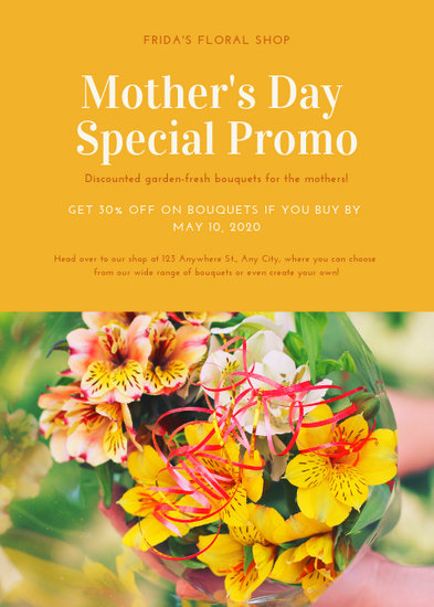 Yellow  Orange Mother\u0027s Day Flyer - Templates by Canva