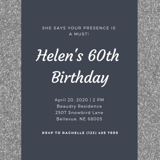 Customize 362+ 60th Birthday Invitation templates online - Canva
