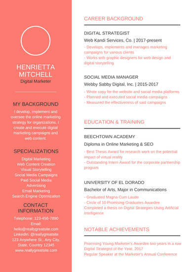 templates for resumes free