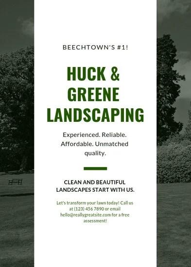 Green Garden Grass Design Landscape Flyer - Templates by Canva
