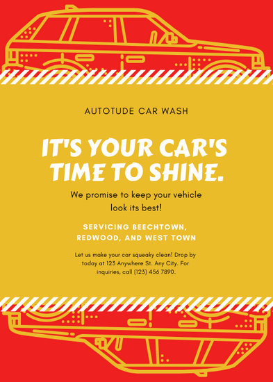 Customize 46+ Car Wash Flyer templates online - Canva
