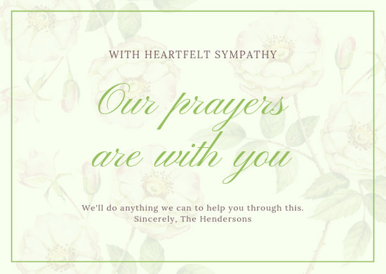 Customize 111+ Sympathy Card templates online - Canva