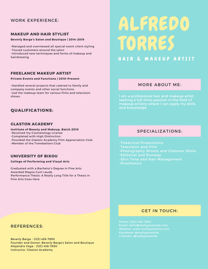 Pastel Pink and Blue Modern Resume - Templates by Canva