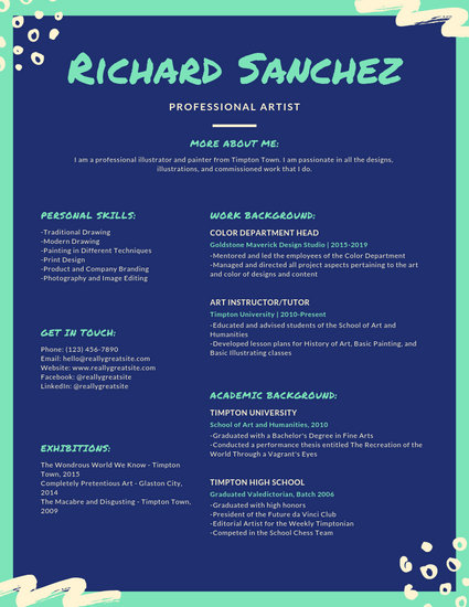 Customize 89+ Colorful Resume templates online - Canva