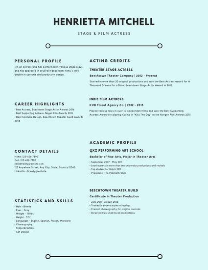 Light Blue Text Minimalist Resume - Templates by Canva