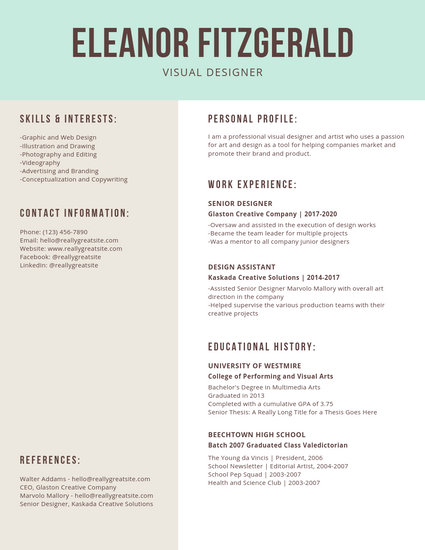 Customize 866+ Modern Resume templates online - Canva