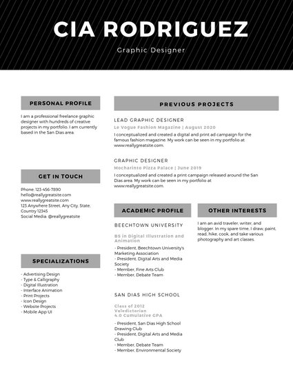 resume templates online best