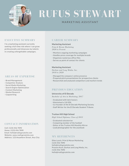 Gray Modern Professional Resume - Templates by Canva