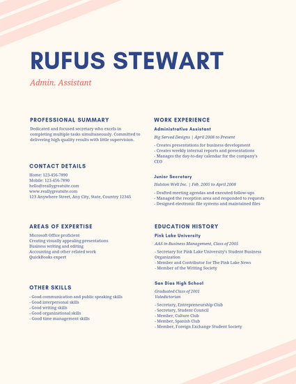 Pink and Cream Simple Resume - Templates by Canva