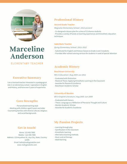 Customize 25+ Academic Resume templates online - Canva