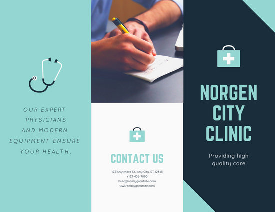 Shades of Blue Medical Trifold Brochure - Templates by Canva