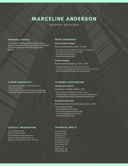 Black Photo Background Minimalist Resume - Templates by Canva