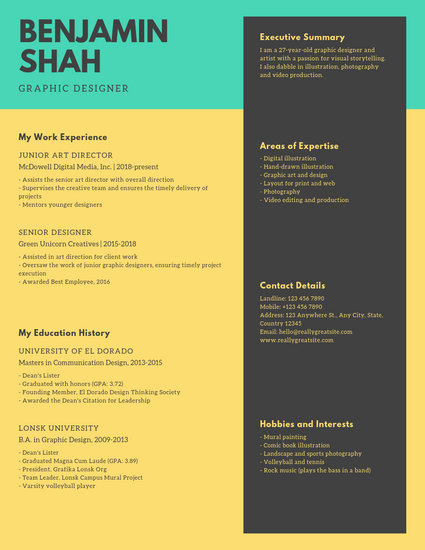 Minimal Multimedia Artist Resume - Templates by Canva