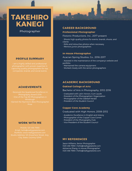 Green Background Resume - Templates by Canva