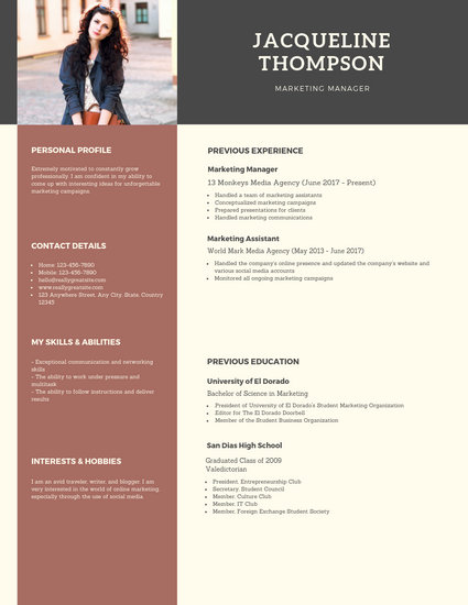media professional resume template