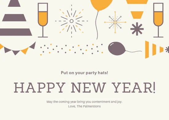 Customize 224+ New Year Card templates online - Canva