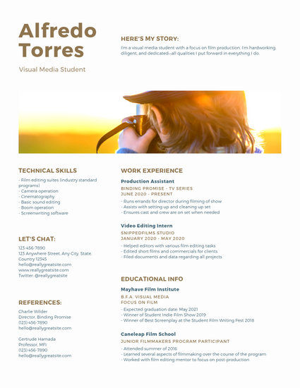 Customize 245+ Photo Resume templates online - Canva