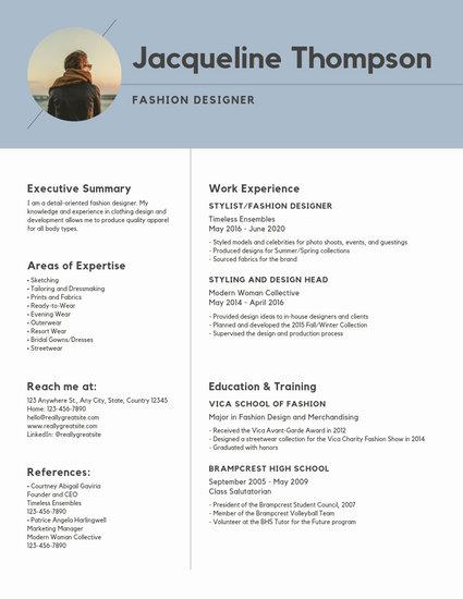 Blue Minimalist Modern Resume - Templates by Canva